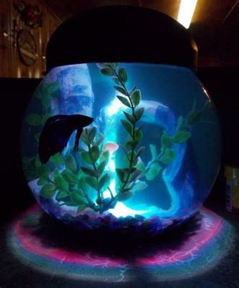 betta fish tank light 1 gallon betta aquarium fish tank fish bowl with led