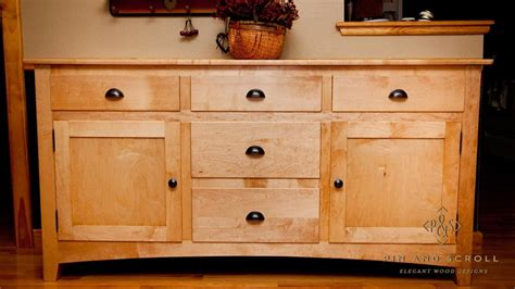 maple sideboard pinandscroll com