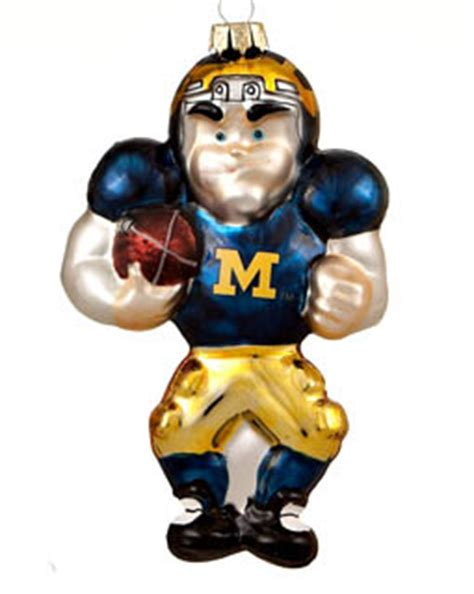 michigan football player christmas ornament college football