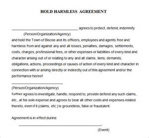 simple hold harmless agreement template search results for simple liability release form