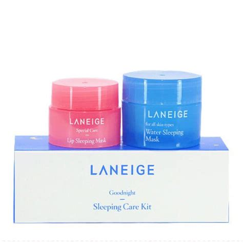 Harga Laneige Lip Sleeping Mask Di Counter laneige goodnight sleeping care kit water sleeping