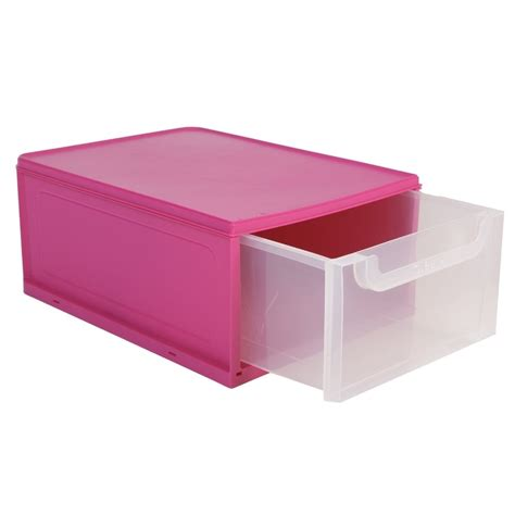 stacking bathroom storage drawers buy 8 litre single plastic drawer unit plastic shoe