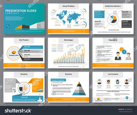 Consulting Slide Templates Business Infographics Presentation Slide Template Flat Stock Vector 318980492 Shutterstock