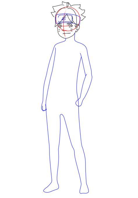 Kaos Uzumaki Boruto cara menggambar boruto uzumaki 9komik