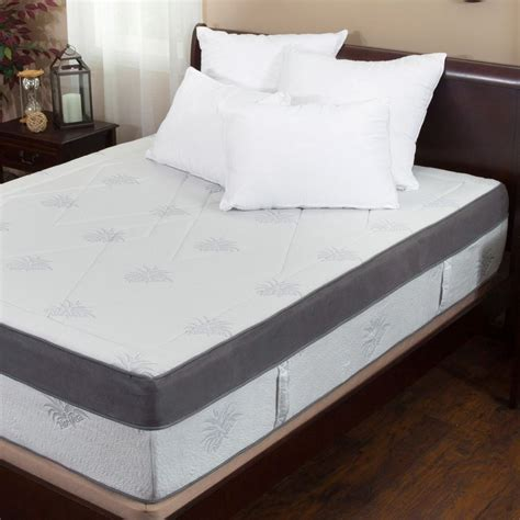 Gel Memory Foam Mattress King by Aloe Gel Infused Memory Foam 15 Inch King Size Mattress Ebay