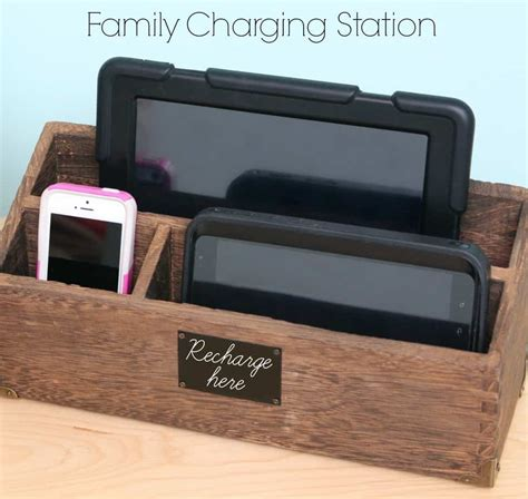 diy wireless phone charging station family charging station