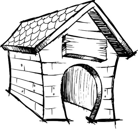 dog house sketch niche 224 chien 32 b 226 timents et architecture coloriages 224 imprimer