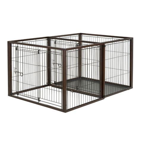 medium crate richell medium flip to play pet crate 94925 the home depot