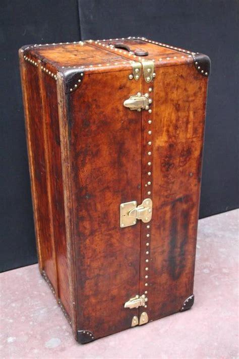 1900s all leather louis vuitton wardrobe steamer trunk