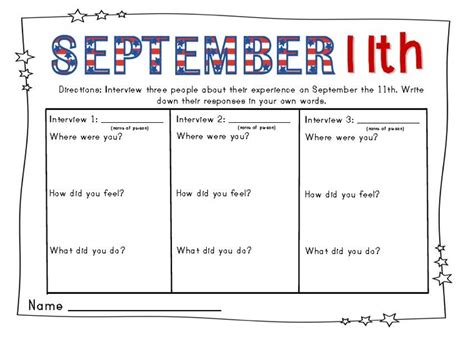 Patriot Day Worksheets by September 11th Activities For Patriot Day