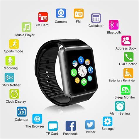 Smart U8 Bluetooth Hitam smartwatch a1 phone function uggadgets