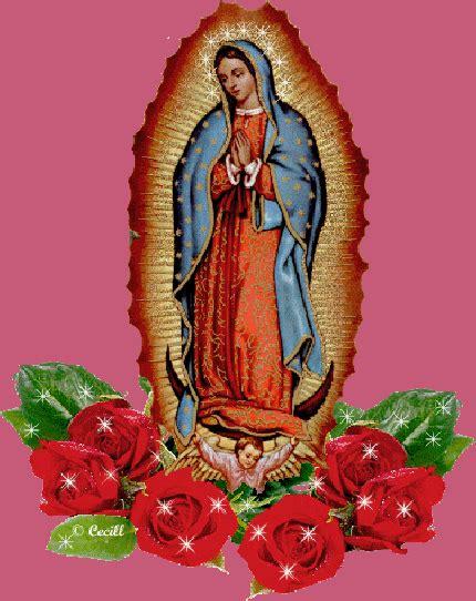 imagen virgen de guadalupe con rosas gif de la virgen de guadalupe con rosas brillos y destellos