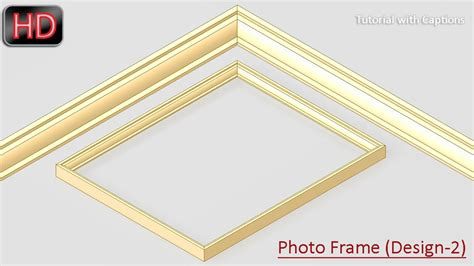 design frame inventor photo frame design 2 autodesk inventor youtube