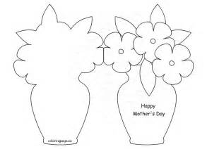 mothers day template card happy s day card template coloring page