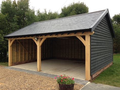 Timber Car Port by Cart Lodge And Garage Construction Classic Suffolk Timberframes