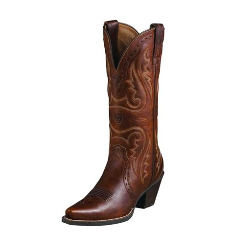 ariat womens heritage western cowboy boots vintage caramel