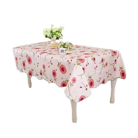 Taplak Meja Makan Plastik Bulat Anti Air Bunga Sepatu Pink jual homestuff motif bunga peva 17 taplak meja harga kualitas terjamin blibli
