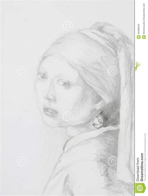 Mädchen Mit Dem Perlenohrring Bild by M 228 Dchen Mit Perlenohrring Bleistift Zeichnung