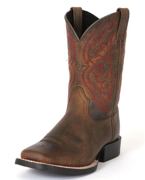 ariat quickdraw cowboy boots child s boy s s brown