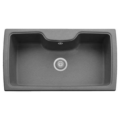 Kitchen Sink Titanium Latoscana Harmony Drop In Granite Composite 22 In 1 Single Bowl Kitchen Sink In Titanium