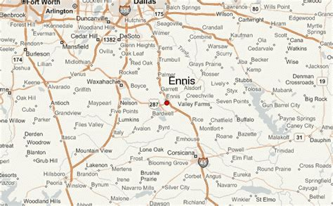 map of ennis texas gu 237 a urbano de ennis