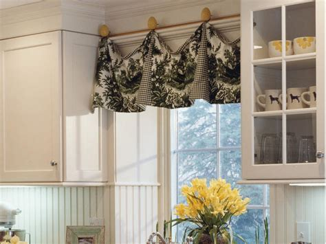 country kitchen window treatments valances in or out