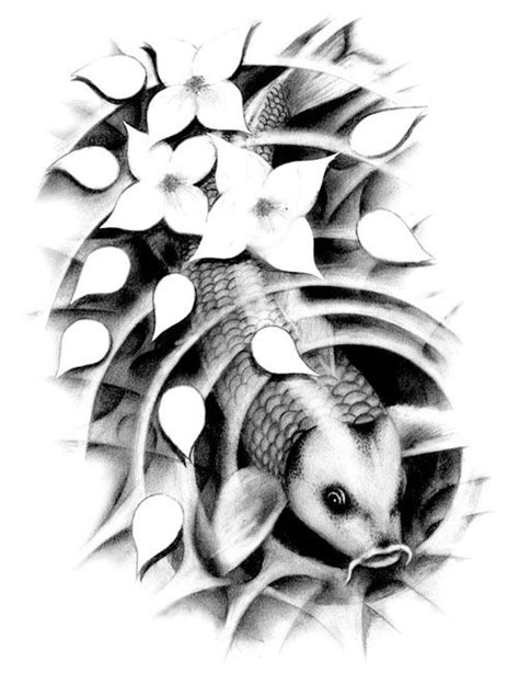 dark koi fish tattoo designs black koi fish designs black and white koi fish
