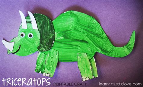 how to make a craft dinosaur for printable dinosaur craft triceratops