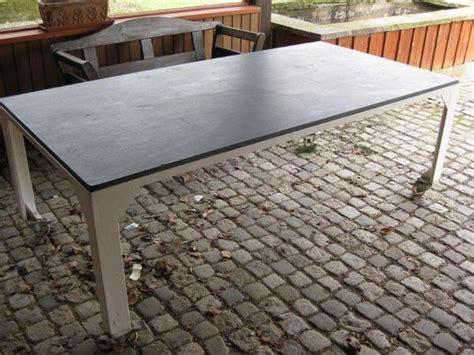 terrasse tisch schieferplatte tisch gestell 100x200x4cm in marloffstein