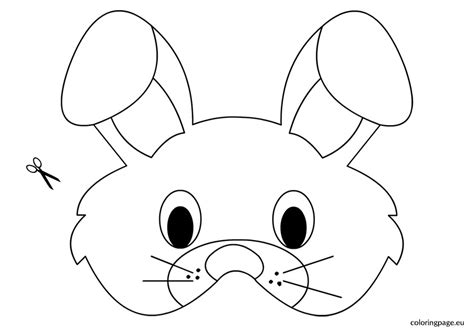 easter bunny face coloring pages to print rabbit mask template coloring page bunny mask coloring