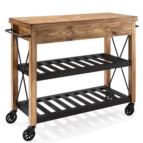sonoma wire brush rustic finish kitchen cart kitchen rustic kitchen cart roots rack rustic kitchen cart design