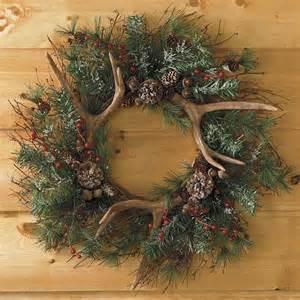 antler wreath wreaths pinterest