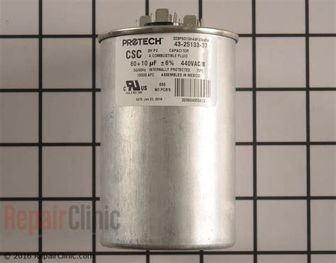 what does a dual run capacitor do dual run capacitor 43 25133 37 repairclinic
