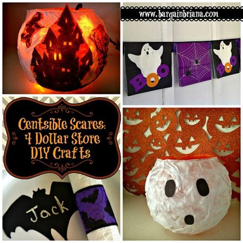 centsible scares 4 dollar store diy crafts bargainbriana