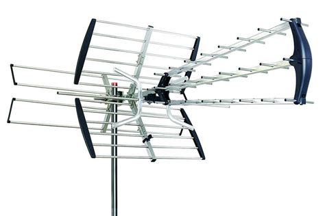 outdoor hd tv antenna lified directional hdtv high gain uhf vhf fm 180 ebay