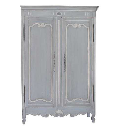 White Armoire by Blue White Painted Armoire