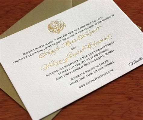 Black Tie Optional Wedding Invitation Wording by Wedding Invitation Wording Dress Codes Letterpress