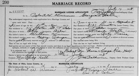 Lucas County Ohio Birth Records Genealogy Data Page 59 Notes Pages