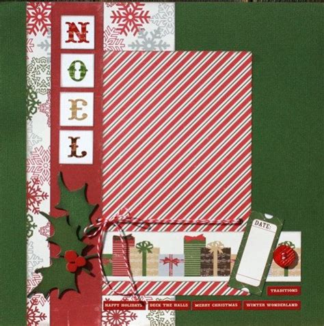 scrapbook page layout ideas pinterest premade scrapbook page 12 x 12 christmas layout noel