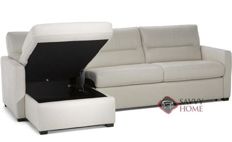 leather chaise sofa sleeper conca leather chaise sectional by natuzzi is fully