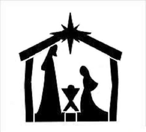 printable nativity stencils stencil christmas bethlehem manger star mary joseph baby