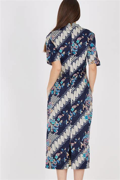 sell dress batik in tosca batik print berrybenka