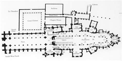 canterbury cathedral floor plan beautiful canterbury cathedral floor plan gallery