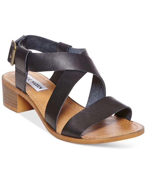 steve madden dress sandals lyst steve madden s lorelle dress sandals in black