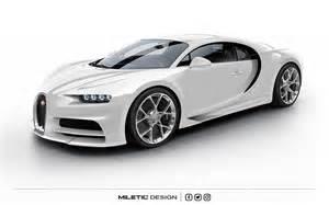 White And Bugatti Rendering Bugatti Chiron Dubai Car