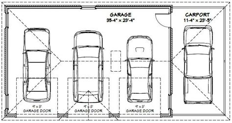 Dimension Box Garage by 3 Car Garage Dimensions Standard Search Carport
