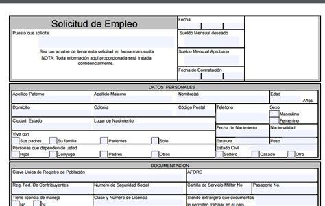 imagenes a formato pdf descargar formato de solicitud de empleo