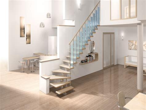 treppe platzsparend so kann die viertelgewendelte treppe umgesetzt werden 50