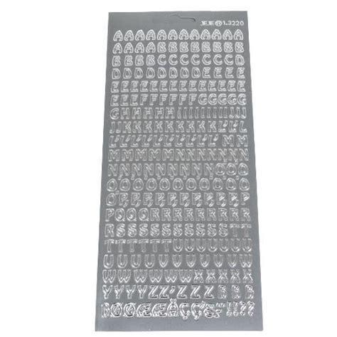 Sticker Buchstaben Silber by Klebe Sticker Konturen Buchstaben Und Zeichen In Silber