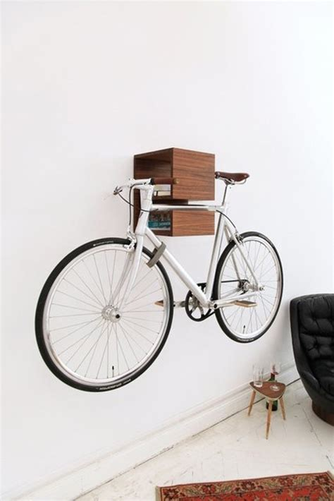bicycle bookshelf storage solutions
